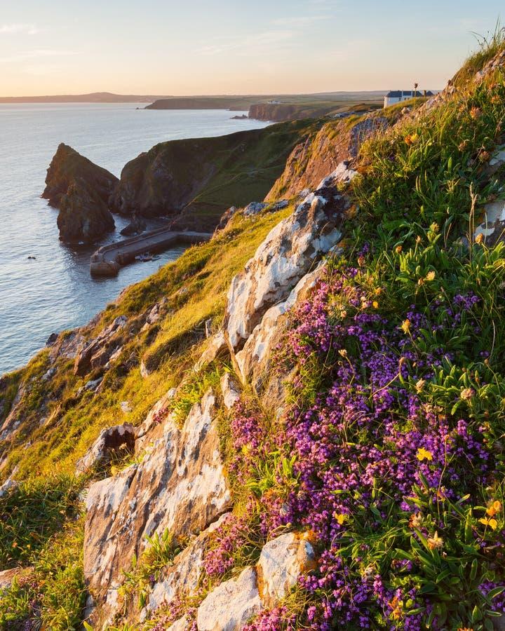 Mullion Cove Cornwall stock photos