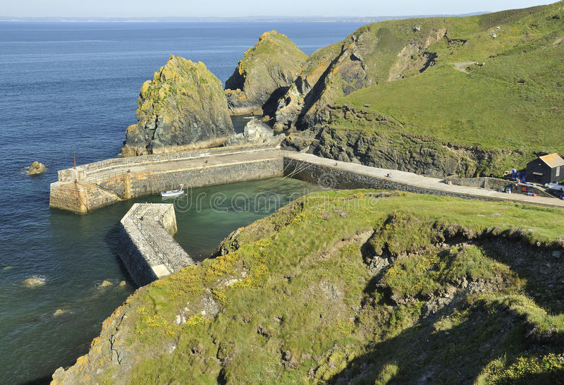 Mullion Cove and Harbour stock image