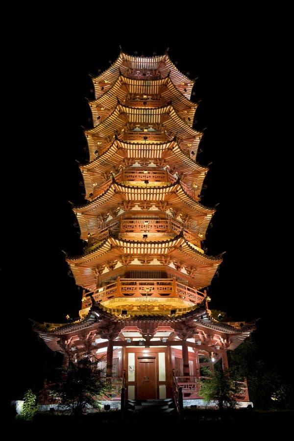 Mulong Lake Pagoda, Guilin, China royalty free stock photography