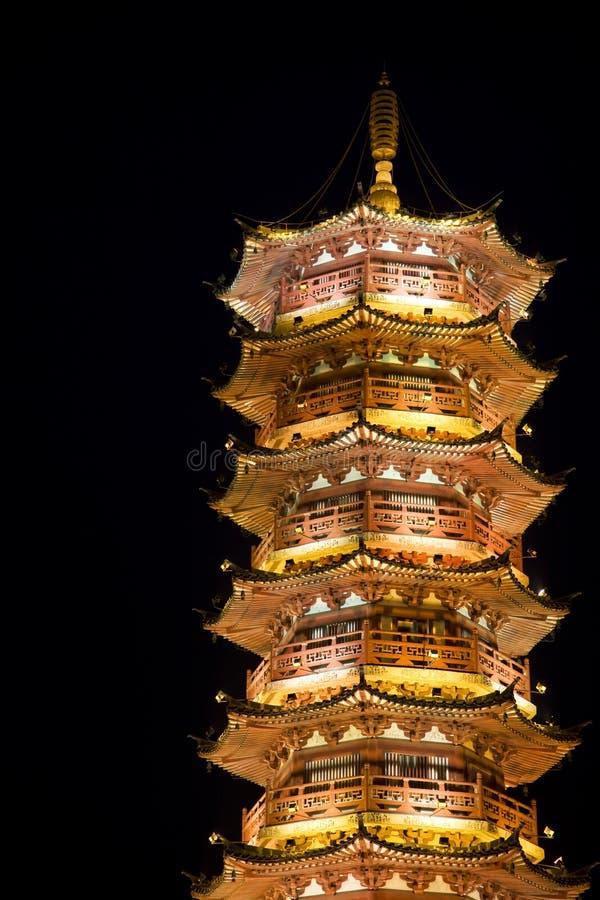 Mulong Lake Pagoda, Guilin, China royalty free stock image