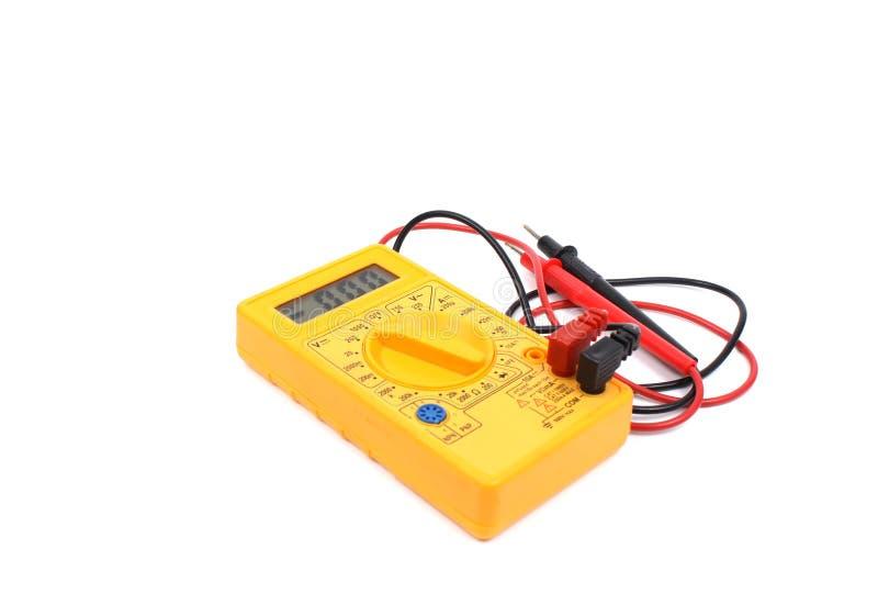 Multímetro digital amarelo fotos de stock