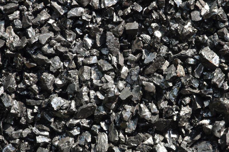 Multas de antracita enriquecidas mojadas del carbón en bulto imágenes de archivo libres de regalías