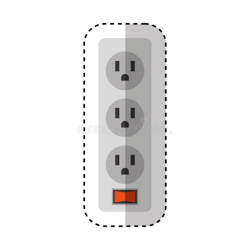multi ícone isolado do soquete energia ilustração do vetor
