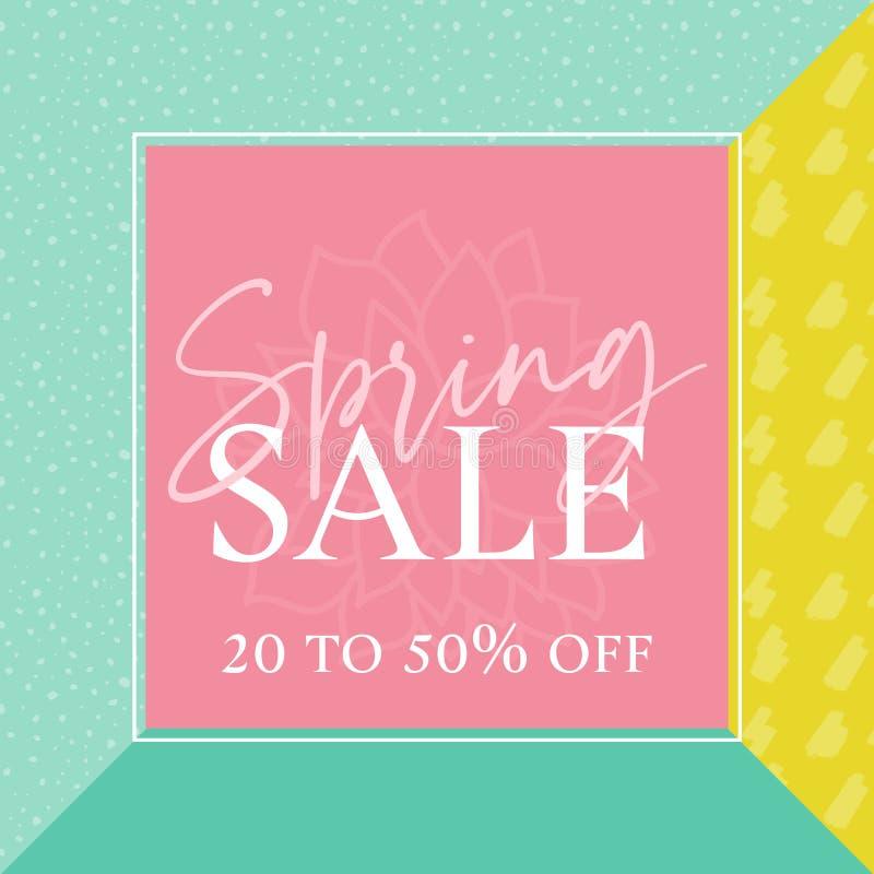 Multi график продажи весны цвета бесплатная иллюстрация