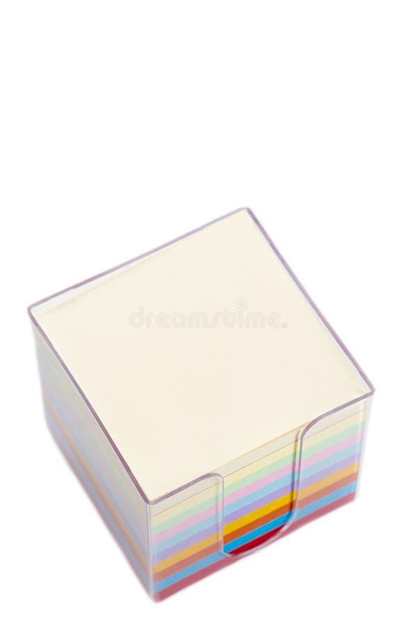 Multi блок цвета пост-его замечает стоковое фото rf