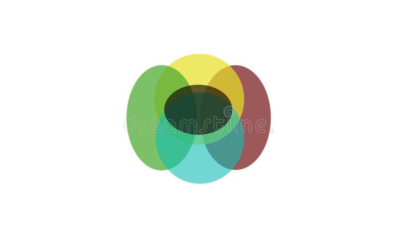 Multi логотип цвета - выглядеть как тень стоковые изображения