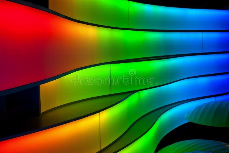 multi покрашенное полосами светлое стоковое фото rf