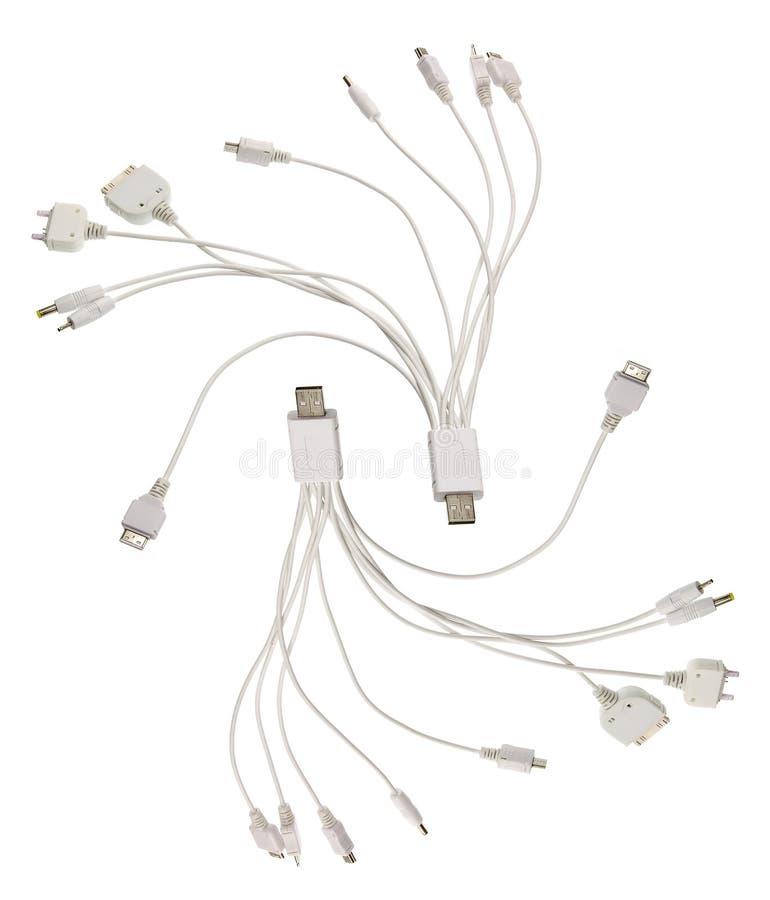 Multi adaptadores de USB fotografia de stock