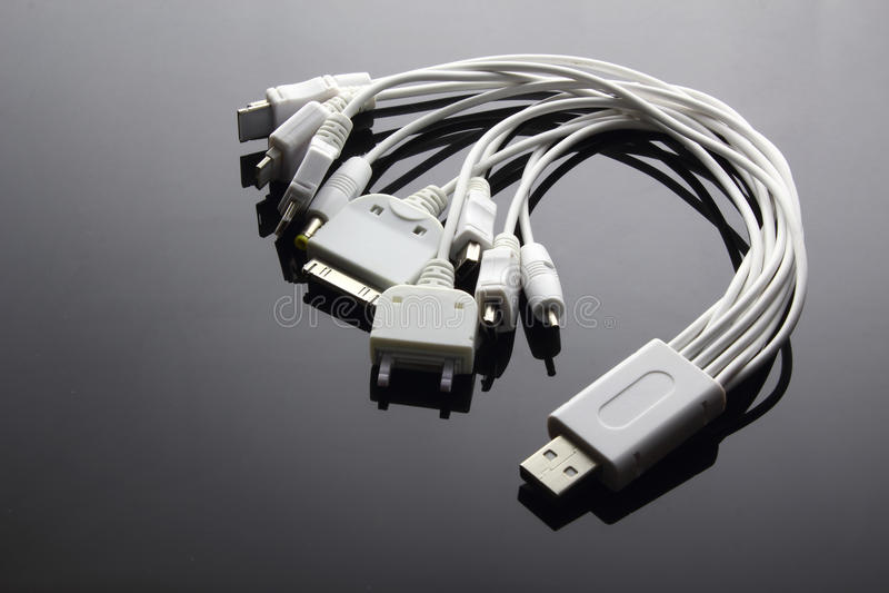 Multi adaptadores de USB imagens de stock royalty free