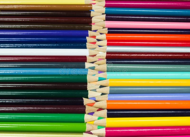 Multi Art Pencils colorido imagem de stock royalty free