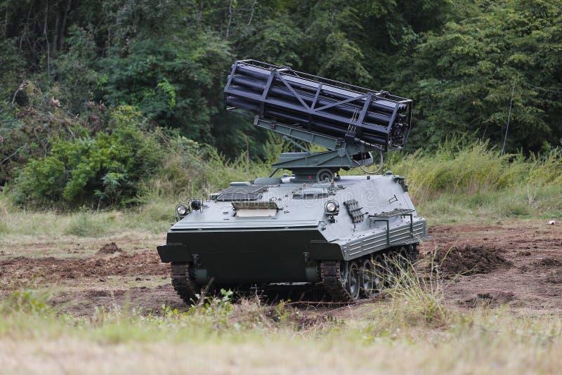 Multi-Barreled Rocket Car stock photography