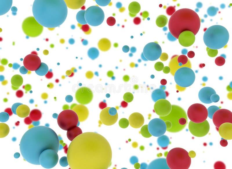 Multi bolas da cor ilustração royalty free