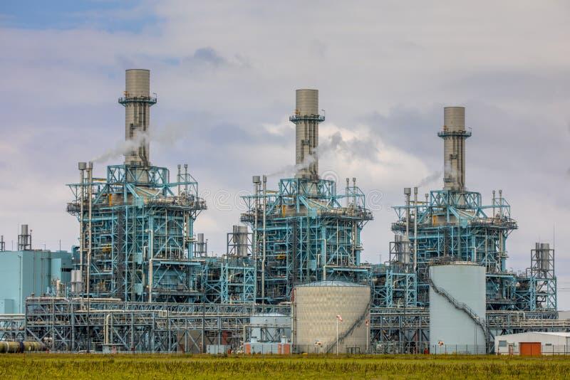 Multi centrale elettrica moderna del combustibile immagini stock