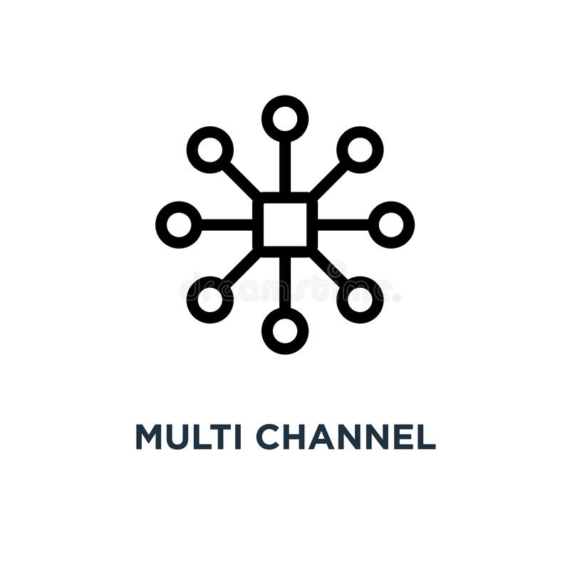Free Multi Channel Icon. Multi Channel Concept Symbol Design, Vector Stock Images - 134300244