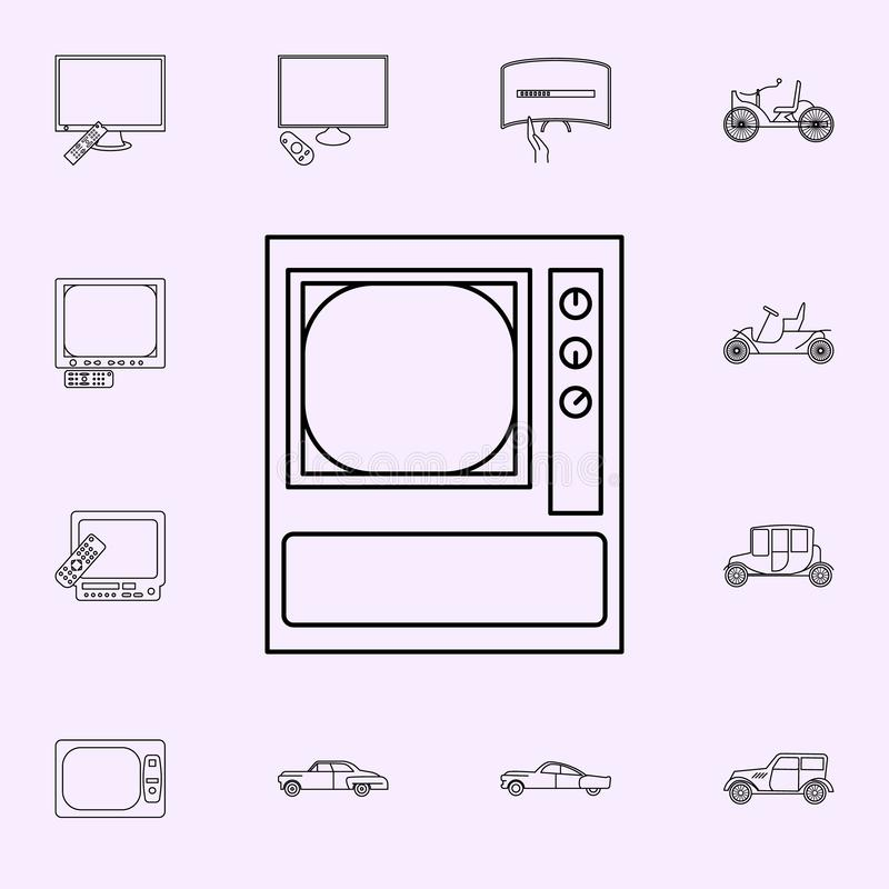 multi-channel TV icon. Generation icons universal set for web and mobile royalty free illustration