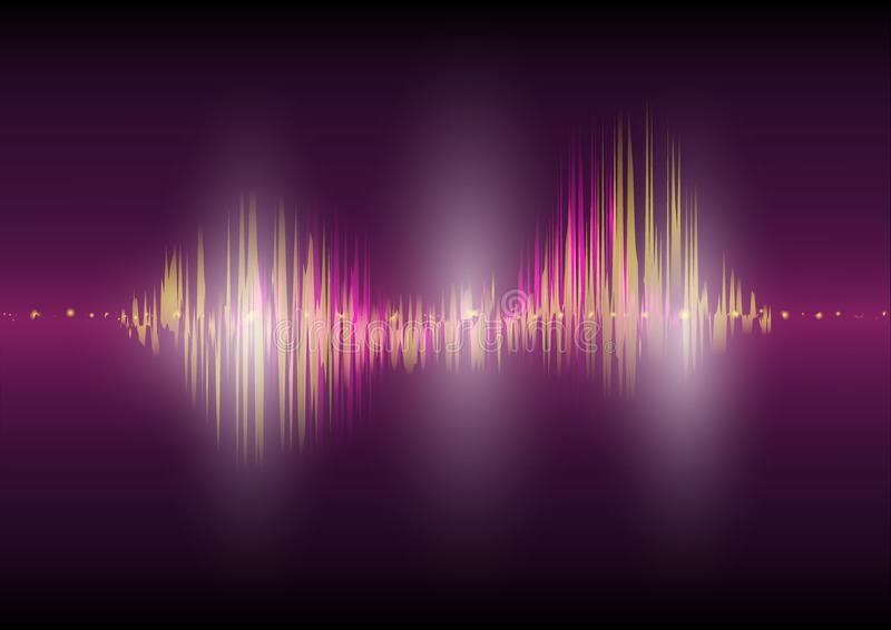 Multi color Audio waveform technology background Digital equalizer technology abstract Vector image stock illustration
