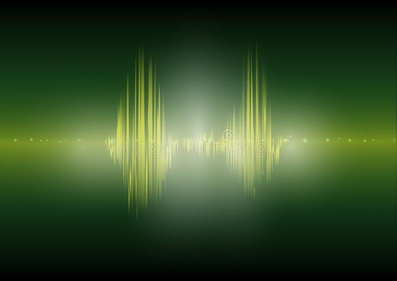 Multi color Audio waveform technology background Digital equalizer technology abstract Vector image. The Multi color Audio waveform technology background Digital stock illustration