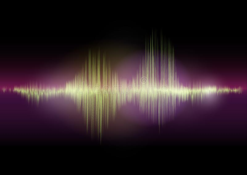Multi color Audio waveform technology background Digital equalizer technology abstract Vector image. The Multi color Audio waveform technology background Digital vector illustration
