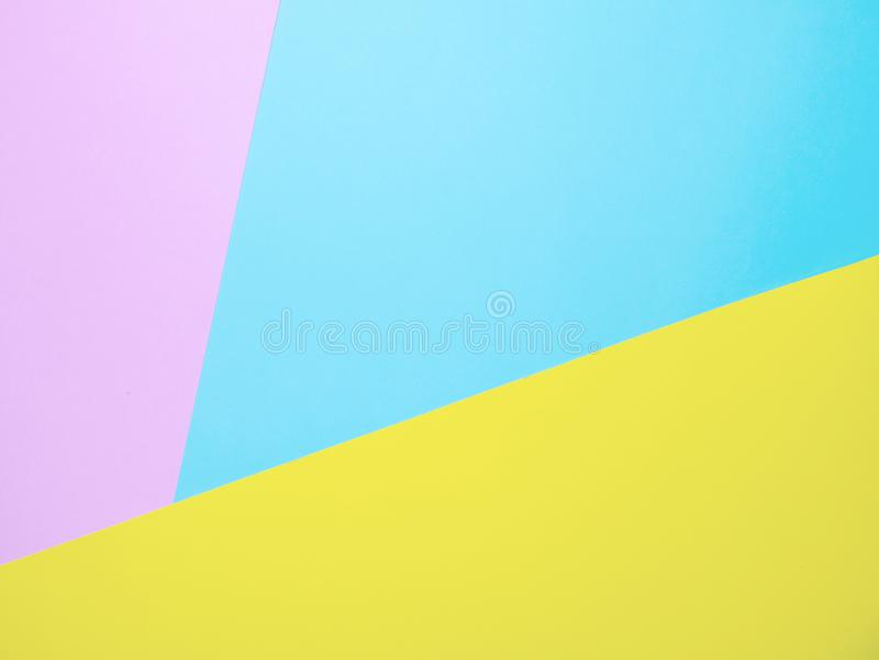 Multi color background from paper of three different colors stock photography