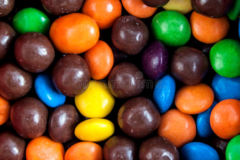 Multi color candy close up stock images