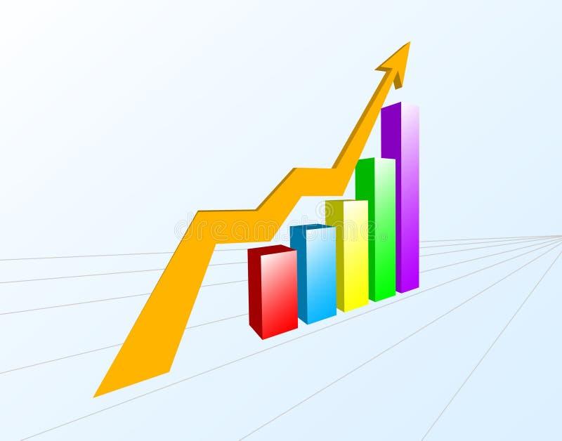 Multi-color Chart stock illustration