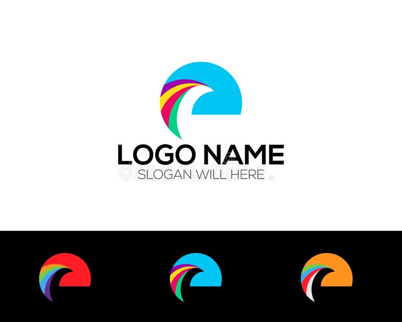 Multi_Color E letter Logo Template online store vectors illustration. This is very easy to use. U ca Use as your won simply vector illustration