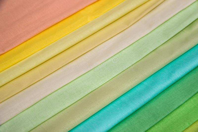 Multi color fabric texture royalty free stock photo