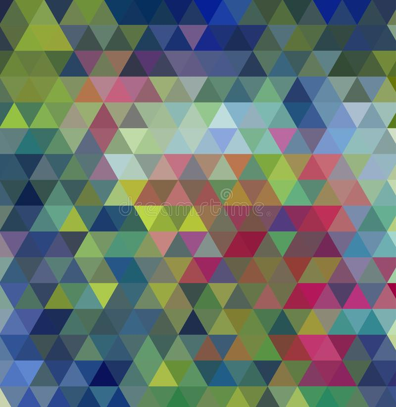 Multi-color geometric triangular low poly low poly style. Gradient background. vector illustration