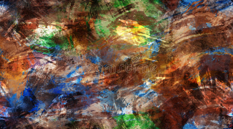Multi-Color Grunge Brush Strokes Seamless Texture Background. Multi-color grunge brush strokes, seamless tile background texture royalty free stock photography
