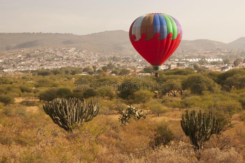 Multi color hot air balloon stock photos