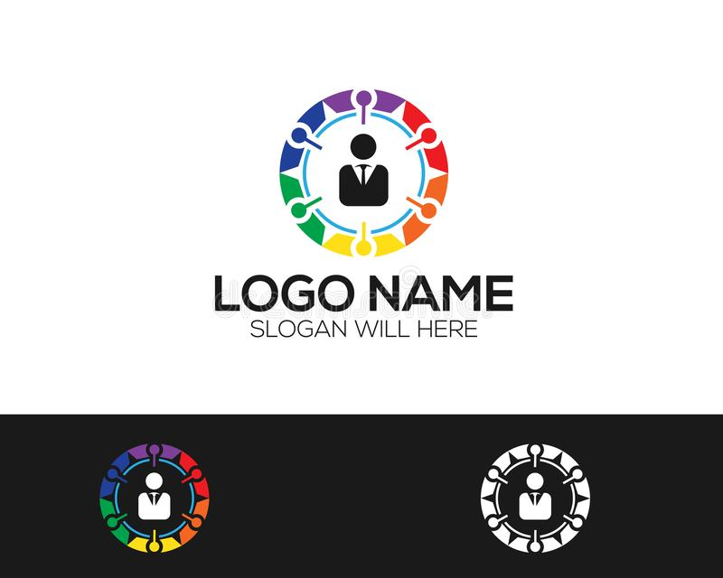 Multi-color Logo Template online store vectors illustration. This is very easy to use. U ca Use as your won simply stock illustration