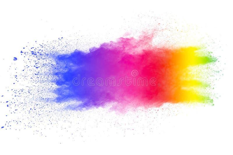 Multi color powder explosion on white background royalty free illustration