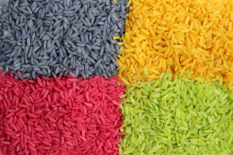 Download Multi color Rice stock photo. Image of dinner, multicolor - 14856868