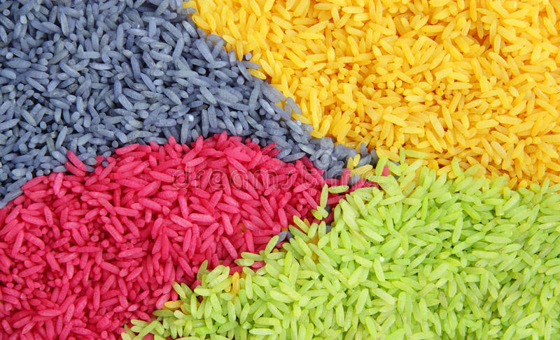 Download Multi color Rice stock photo. Image of dish, grown, cooking - 14856918
