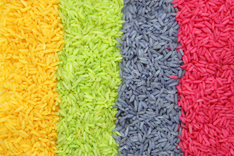 Download Multi color Rice stock photo. Image of dish, macro, lunch - 14856954