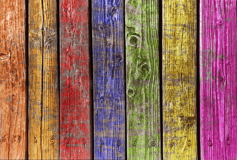 Multi color wood stock photo