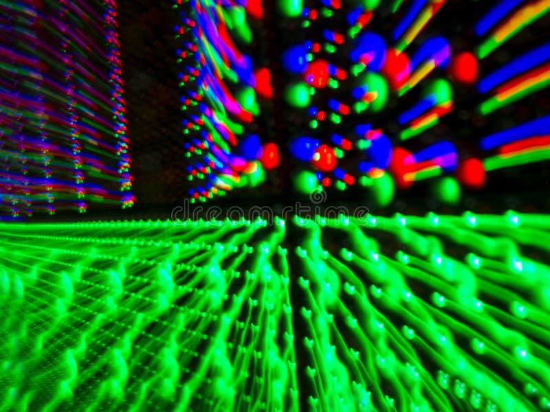 Multi colore LED nel pannello dello schermo, fotografia stock libera da diritti