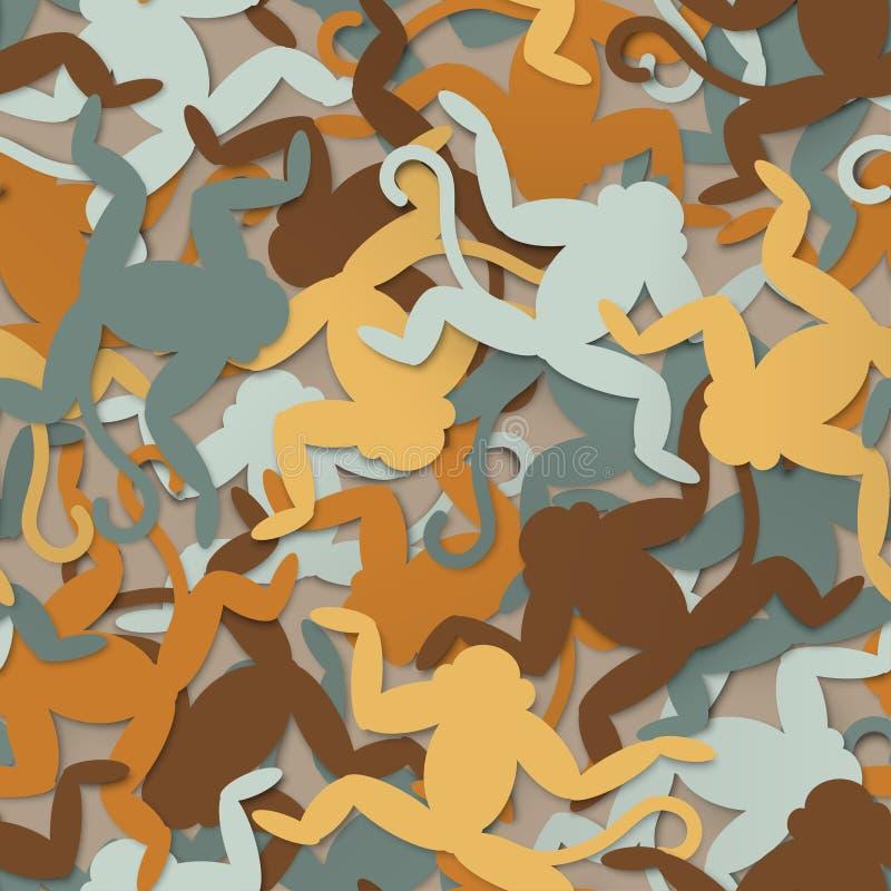 Multi-colored apen naadloze achtergrond royalty-vrije illustratie