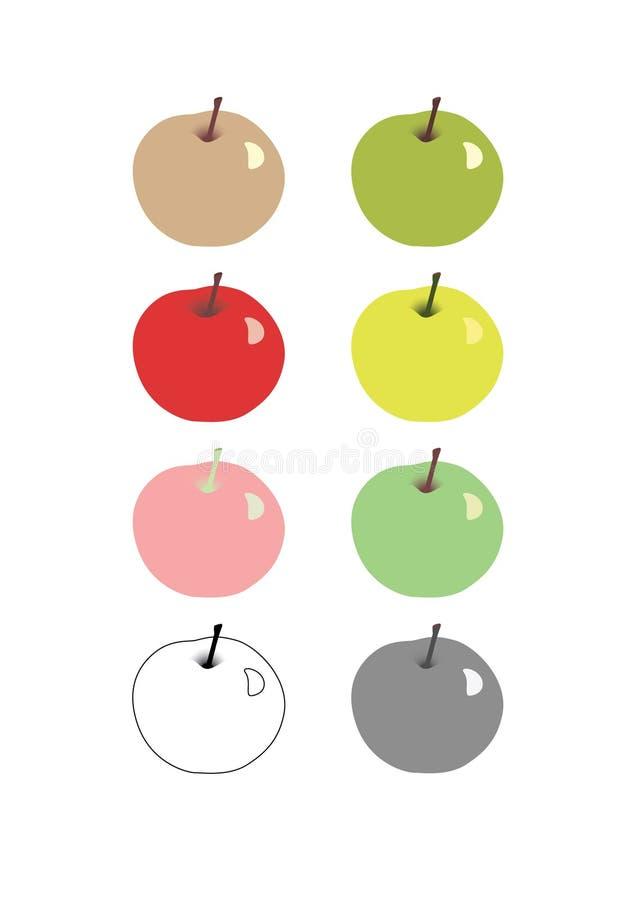 Multi-colored appelen vector illustratie
