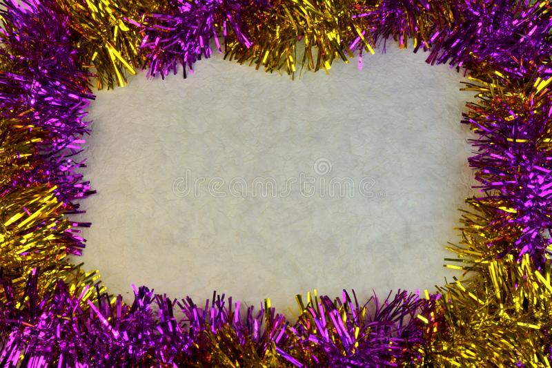 The multi-colored background border frame for Christmas and new year. Background border colorful glitter photo frame for Christmas and new year. designed for royalty free stock image