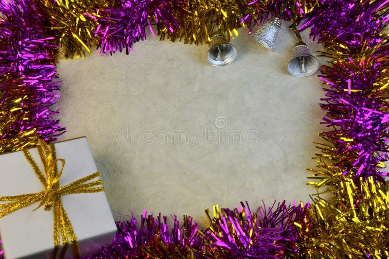 The multi-colored background border frame for Christmas and new year. Background border colorful glitter photo frame for Christmas and new year. designed for stock photography