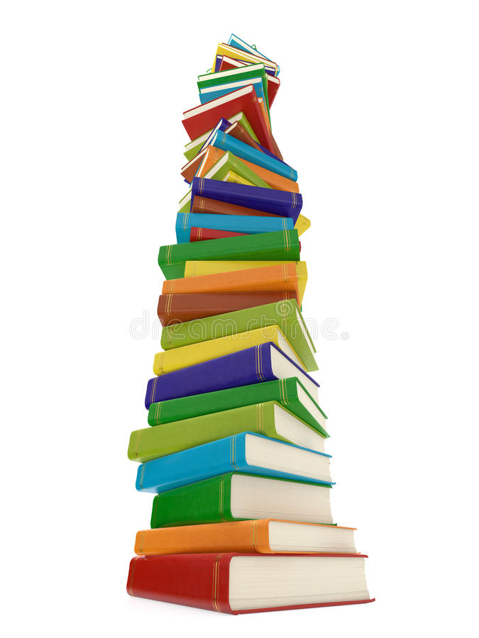 Multi colored book stack royalty free illustration