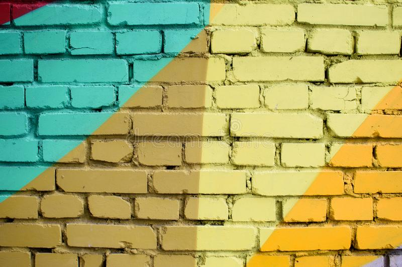 Multi-colored brick surface. royalty free stock image
