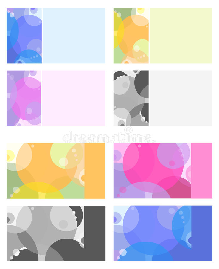 Download Multi-colored-business-cards-with-the-circles Stock Illustration - Image: 13466960