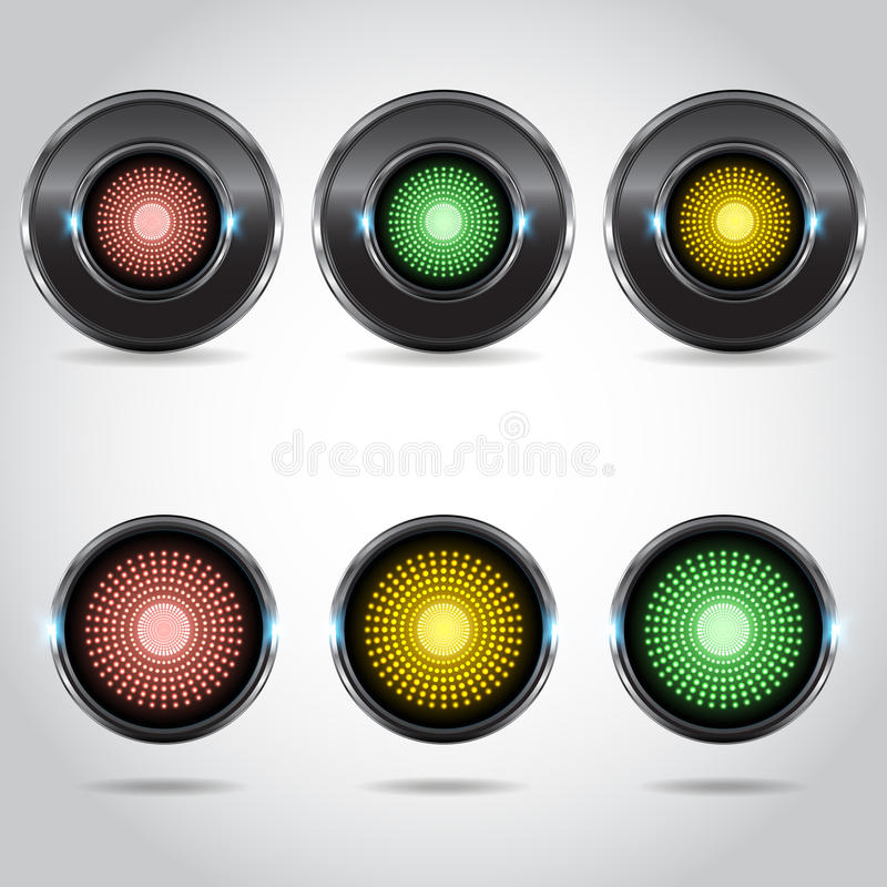 Download Multi-colored buttons stock vector. Image of illustration - 43202761