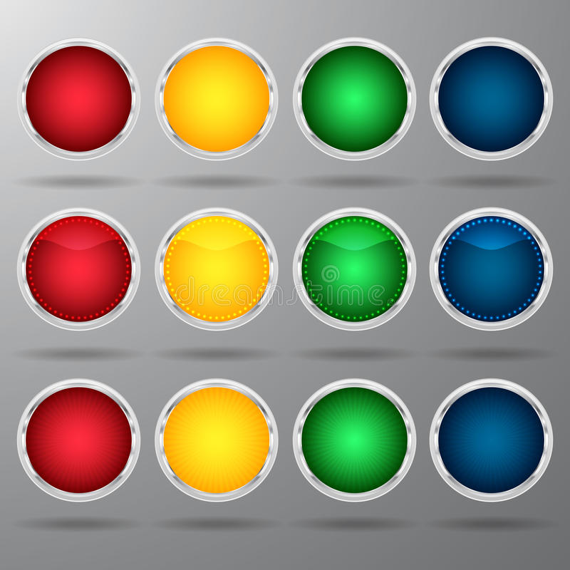 Download Multi-colored buttons stock vector. Illustration of circle - 40004845