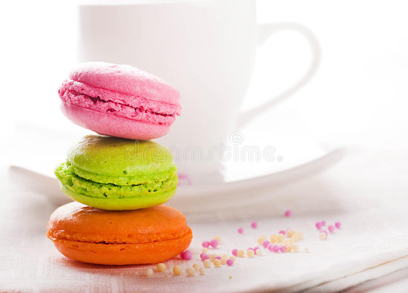 Multicolored Cakes And Coffee Stock Image Image of chocolate