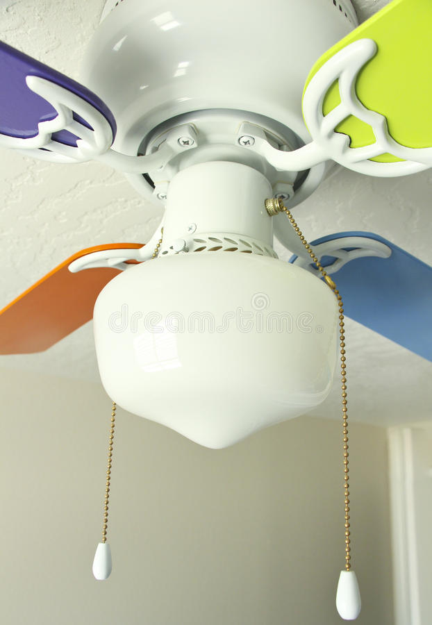 Multi Colored Ceiling Fan Stock Image Of Electrical 31017171