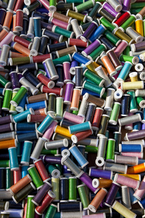 Download Multi Colored Cotton Reels stock image. Image of colorful - 16089729