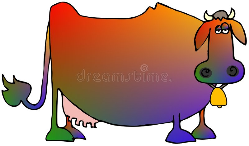Multi-colored Cow royalty free illustration